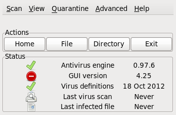 ClamTK Virus Scanner