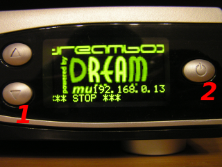 Dreambox DM7025 Display - Vorderseite