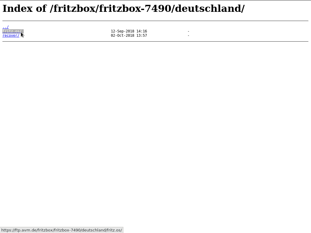 FTP-Server AVM - fritzbox-7490 - deutschland - fritz.os