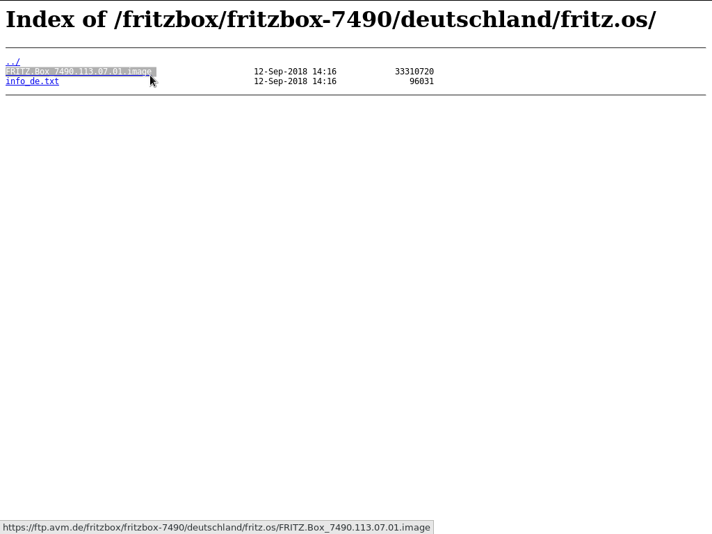 FTP-Server AVM - fritzbox-7490 - deutschland - fritz.os - image