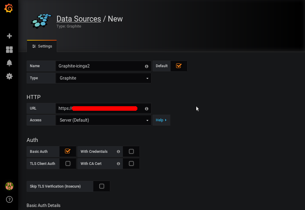 Grafana - Home - Add data source - Seite 1