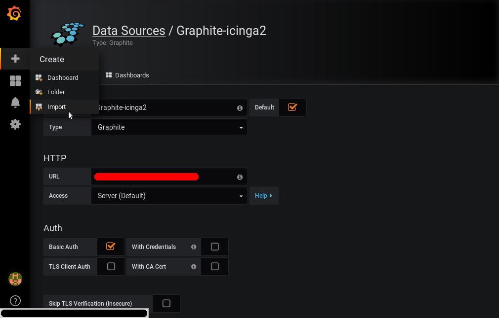 Grafana - Create - Import