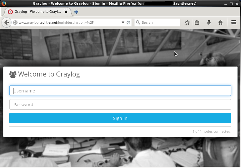 Graylog Web-Server Sign in
