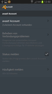 app - avast! - Einstellungen - avast! Account