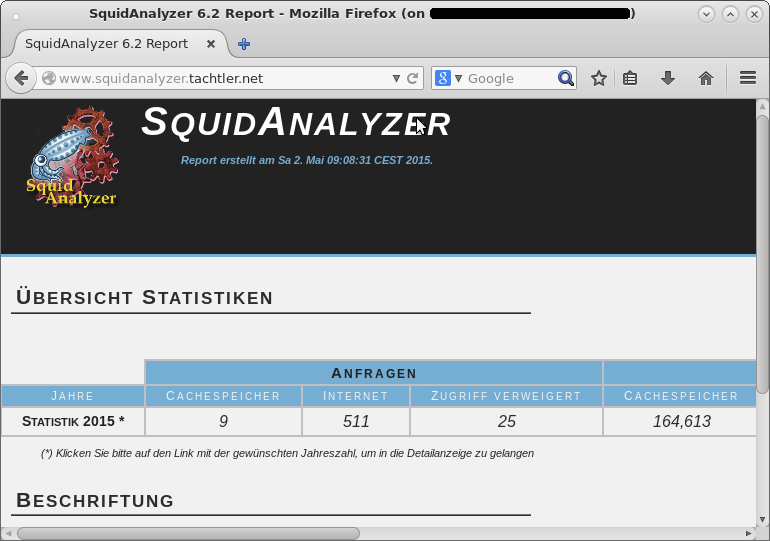 SquidAnalyzer - Start