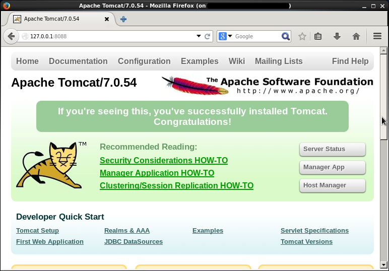 Apache Tomcat Applikation-Server - ROOT-Web-Anwendung