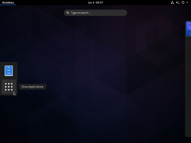 archlinux_activities_show-applications.png|ArchLinux - Activities - Show Applications