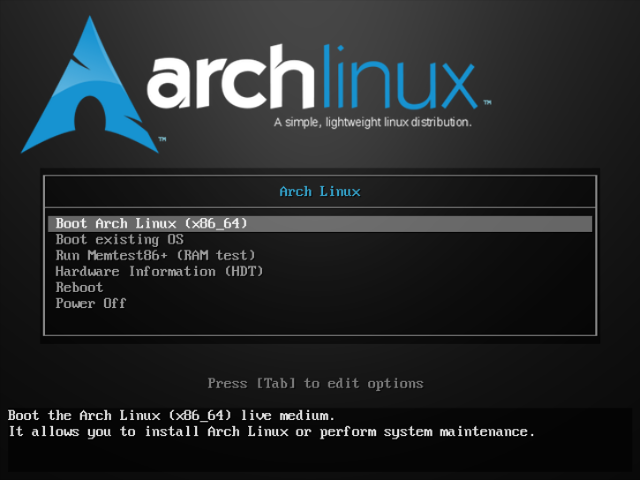 ArchLinux - ISO - Boot