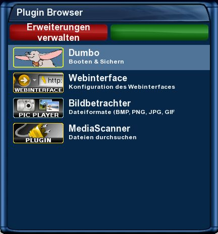 tachtler:dreambox:dreambox_dm7025_hauptmenu_-_erweiterungen_plugin_browser_dumbo_v0001.png