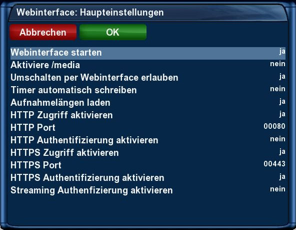 tachtler:dreambox:dreambox_dm7025_webinterface_-_hauptmenu_erweiterungen_plugin_browser_webinterface_haupteinstellungen.png