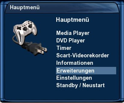 tachtler:dreambox:dreambox_dm7025_dvdplayer_-_hauptmenu_erweiterungen.png