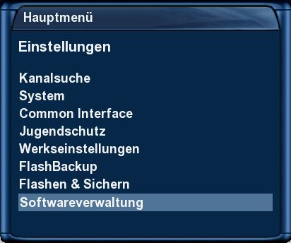tachtler:dreambox:dreambox_dm7025_dvdplayer_-_hauptmenu_einstellungen_softwareverwaltung.png